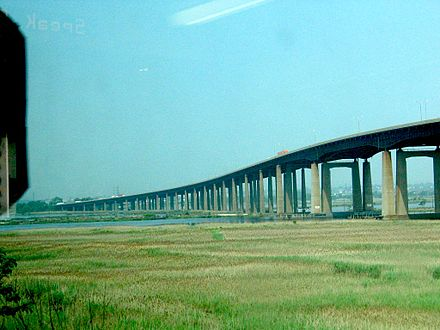 NJ Turnpike passes the swampy Meadowlands, near New York City NJ-TurnpikeSwamp.JPG