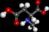 Pilko- kaj bastonmodelo de N-methyl-D-aspartic-acido