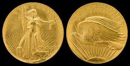 The Saint-Gaudens double eagle replaced the Liberty Head design.