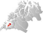 Locator map showing Ibestad within Troms