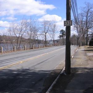 Nova Scotia Route 331 - Route 331 outside Bridgewater beside the Lahave River.