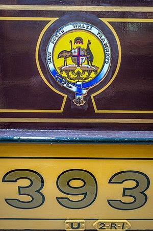 Sydney Tramway Museum - Image: NSWT F class Tram 393 Logo