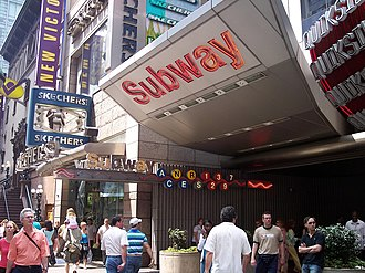 New York City Subway stations - An entrance to the Times Square–42nd Street/Port Authority Bus Terminal station