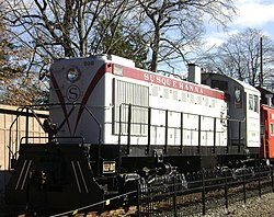 Train at the Maywood Station Museum
