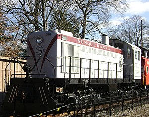 Maywood, New Jersey - NYSW train at the Maywood Station Museum