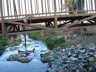 Nairobi River - Pollution in the Nairobi River.