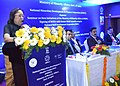 Najma A. Heptulla addressing the seminar on New Initiatives of the Ministry of Minority Affairs after signing of MoUs with the Sector Skill Councils, in Chennai. The Chairman, NMDFC & Jt. Secretary.jpg