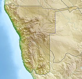 Map showing the location of Cape Cross
