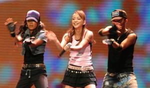 Namie Amuro discography - Amuro performing at the MTV Asia Aid 2005.