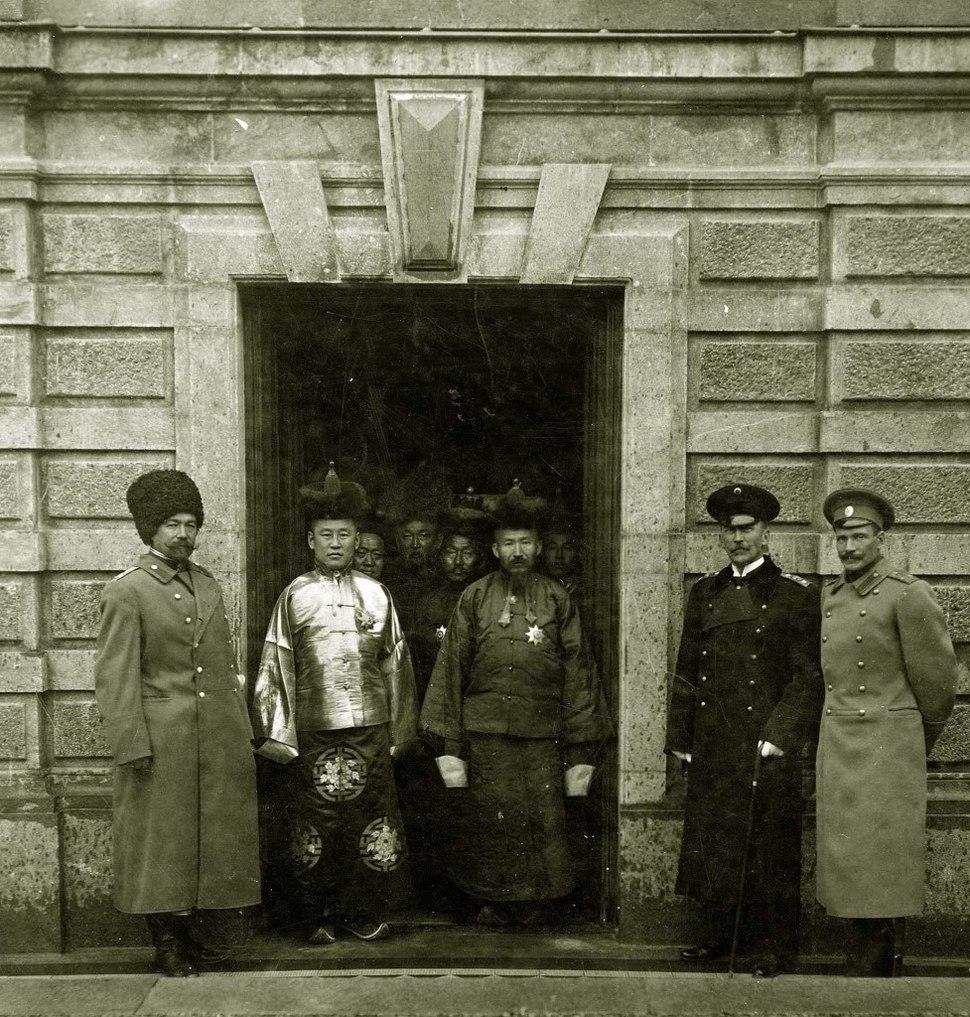 Namnansuren and Delegates, Saint Petersburg