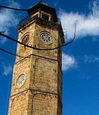 Naousa, Imathia - View of the clocktower.