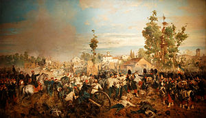 Battle of Magenta - The Battle of Magenta by Gerolamo Induno. Musée de l'Armée, Paris