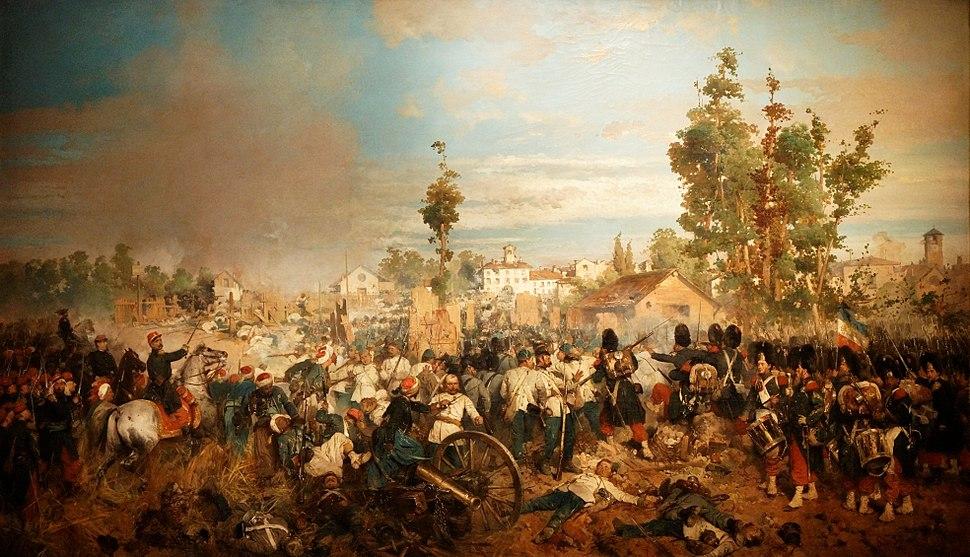 Napoléon III et l'Italie - Gerolamo Induno - La bataille de Magenta - 001