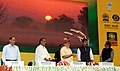 Narendra Modi launching the DD Kisan Channel, in New Delhi. The Union Minister for Agriculture, Shri Radha Mohan Singh, the Minister of State for Information & Broadcasting, Col. Rajyavardhan Singh Rathore.jpg