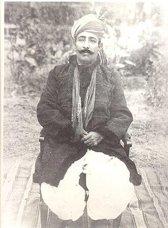 Amb (princely state) - Nawab Sir Muhammad Khan Zaman Khan, Nawab of Amb. At Darband, Amb State, 1923.