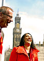 Naz Shah and Dave Green in City Park, Bradford.jpg