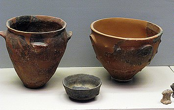 Neolithic clay cups from Sesklo. National Museum Athens.jpg