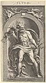 Neptune standing in a niche holding a trident in his left hand, foliage in his right MET DP836924.jpg