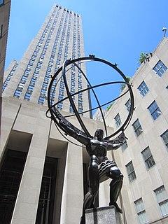 <i>Atlas</i> (statue) public statue of Atlas at the Rockefeller Center