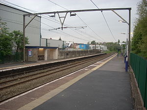 Newton, Greater Manchester - Newton for Hyde railway station.