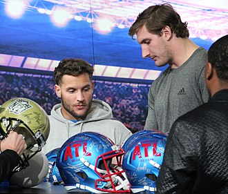 Joey Bosa - Joey (right) with his brother Nick (left) in 2019