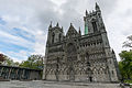 Nidaros Cathedral and Visitor Center, Trondheim, West view 20150605 1.jpg