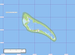 Nikumaroro - Geographical map of Nikumaroro