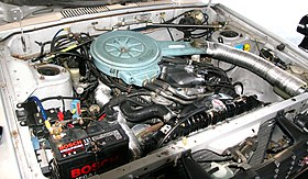 Nissan Bluebird 910 SSS engine room.jpg