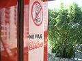 No viaje en los escalones, aviso en tren, Belgrano Norte, Buenos Aires 1.JPG