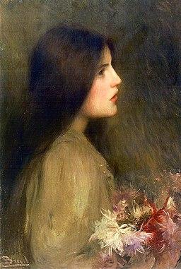 Noia amb flors - Joan Brull i Vinyoles (1863-1912) - 0