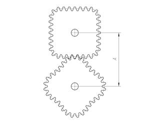 Non-circular gear - Non-circular gear example