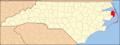 North Carolina Map Highlighting Dare County.PNG