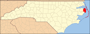 Dare County map