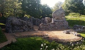 Henry le Despenser - The ruins of Despenser's manor house at North Elmham, built over the site of the ancient Saxon cathedral and a Norman chapel.