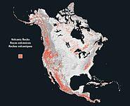 North america rock volcanic