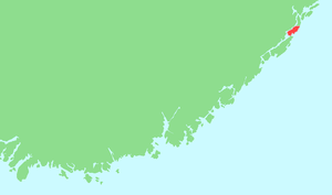 Flostaøya - Location of the island in southeastern Norway