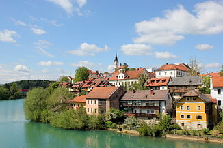 Krka in Novo mesto (Rudolfswerth)