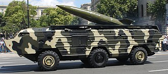 Tactical nuclear weapon - Russian OTR-21 Tochka missile. Capable of firing a 100 kiloton nuclear warhead a distance of 185 km