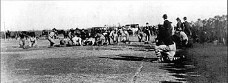 Oklahoma Sooners football - Oklahoma vs. Arkansas City (Kansas) Town Team in 1899 with Vernon Parrington as coach.