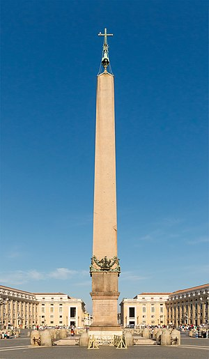 Vatican City - The Vatican obelisk was originally taken from Egypt by Caligula.