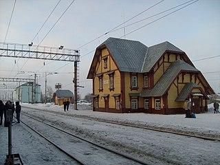 Urban-type settlement in Arkhangelsk Oblast, Russia