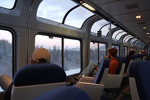 Carrozza panoramica in composizione all'Empire Builder, qui mentre attraversa il Montana.