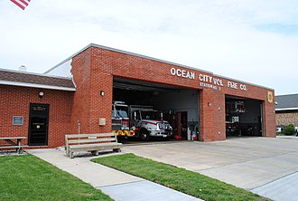 Ocean City Fire Department station Ocean City, MD Vol. Fire Co. Station (8317333460).jpg