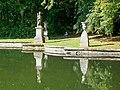 Ognon (60), parc d'Ognon, groupe sculpté à l'extrémité nord du miroir d'eau 02.jpg