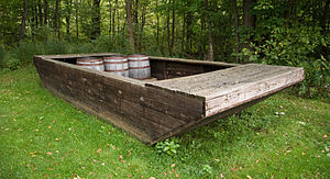 Oil Creek State Park - Barges like this were filled with oil barrels and floated down Oil Creek.
