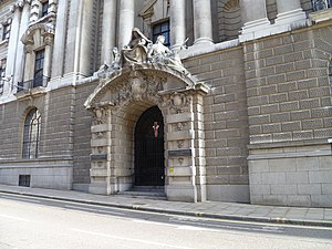 1973 Old Bailey bombing - Entrance door to the Old Bailey