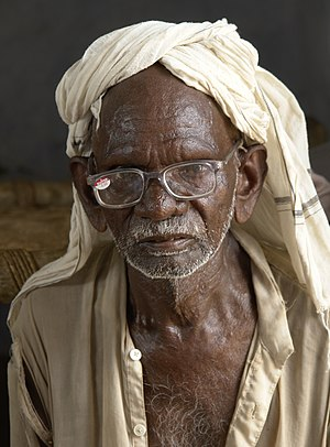Old man near Jaura, Madhya Pradesh, India.