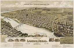 Perspektivkort over Laredo, 1892.