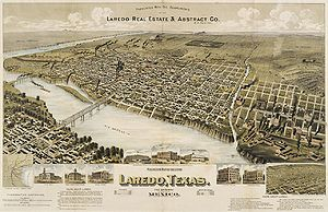 Laredo–Nuevo Laredo - Map of Laredo in 1892