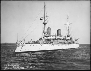 Olympia (Cruiser 6). Port bow, 02-10-1902 - NARA - 513012.tif